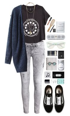 """Good Riddance"" by ellac9914 ❤ liked on Polyvore featuring H&M, Vans, Byredo, Givenchy, NARS Cosmetics, Philip Kingsley, MAC Cosmetics, Wildfox, Happy Plugs and Winter"