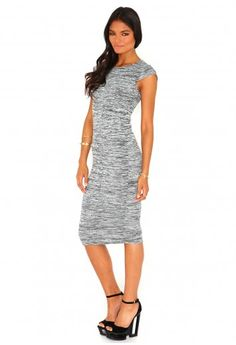 Cassie Melange Bodycon Midi Dress - dress - missguided