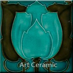 Art Nouveau decorative Ceramic tile 6 X 6 Inches 210
