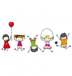 Illustration about Happy kids playing. illustration with white background. Illustration of children, boys, illustration - 22334823 Happy Cartoon, Cartoon Kids, Physical Development In Children, Drawing For Kids, Art For Kids, Stick Figure Drawing, Stick Figures, Happy Kids, Easy Drawings