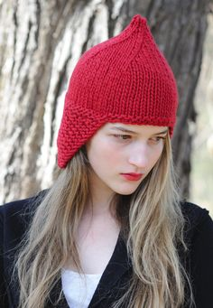 gnome hat style, Kelpie, designed by Pam Allen ... pattern and yarn (Puffin) available at quinceandco