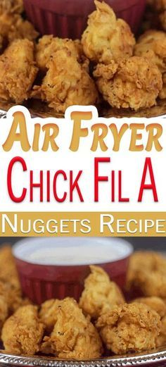 his Air Fryer Chicken Nuggets Recipe is one of the best chick fil a copycat recipe you will find. This chick fil a chicken recipe tastes just like the chick fil a chicken nuggets recipe from the restaurant, your family will be very pleased. Chick Fil A Chicken Nuggets Recipe, Chick Fil A Nuggets, Chicken Nugget Recipes, Chick Fil A Grilled Chicken Recipe, Kids Chicken Recipes, Easy Recipes For Kids, Meat Recipes, Easy Food To Make, Chickfila Chicken Recipe