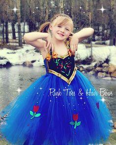 Anna Tutu dress Anna frozen tulle dress Anna by GlitterMeBaby, $89.99