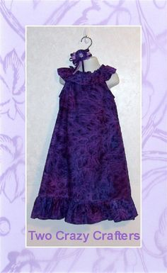 Beautiful Flouncy Neckline Dress with Matching by TwoCrazyCrafters, $20.50