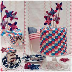 Patriotic Summer Berry Cake