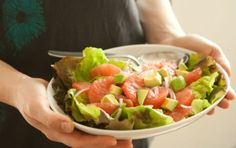 For beautiful results, use both pink and white grapefruit in this refreshing salad.