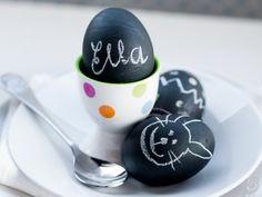Chalkboard Egg Place Cards