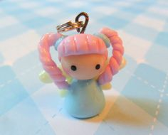 Kawaii Girl Fairy Charm Chibi Polymer Clay Charm. $6.00, via Etsy.
