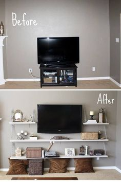 Good decor idea so your tv doesn't stick out like a sore thumb on the wall.