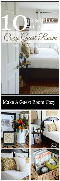 10 Essentials of a Cozy Guest Room ~ ideas to pamper guests and make your life easier.