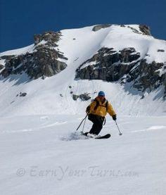 Telemark skiing.