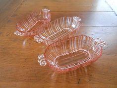 Pink Depression Glass Dish by DagmarsHomeDecor on Etsy, $14.95