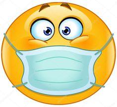 Emoticon with medical mask. Vector emoticon with medical mask over mouth , Smiley Emoji, Sick Emoji, Funny Emoji Faces, Emoji Love, Meme Faces, Emoticons Text, Animated Emoticons, Funny Emoticons, Facebook Emoticons