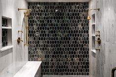 Black beehive tiles