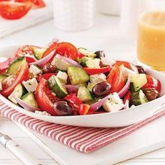 Salade grecque - Recettes - Cuisine et nutrition - Pratico Pratique