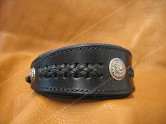 Braided Whippet Collar With Conchos WP7