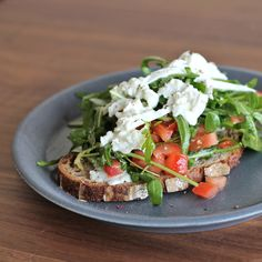 Cool down this summer with this refreshing and simple bruschetta caprese on sourdough bread.