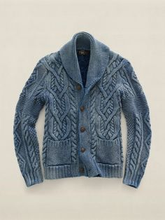 Cable frenzy cardigan.