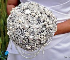 Cascading Diamante Bouquet