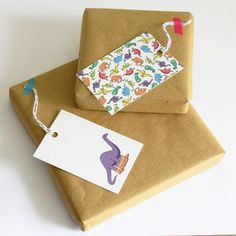 Dinosaur Gift Tags More Styles Available