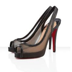 57fbdfe33186 Christian Louboutin Canne A Peche Black Pumps Red High Heels