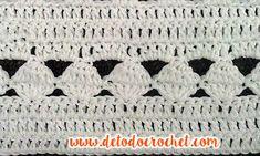 Blusa Crochet para Todos los Talles / Tutorial Crochet Cardigan, Crochet Top, Crotchet Stitches, Chevron, Blanket, Dory, Knitting, Butterfly, Crochet Projects