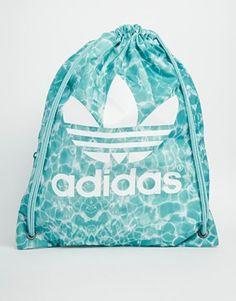 fda6bf151b Adidas Originals Drawstring Backpack in Pool Print Backpack Bags