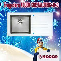 Fregadero Sobre Encimera NODOR CRISTALCUBIC4040 Derecha Inox Cristal 60cm