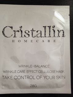 Liked a lot.  Cristallin Wrinkle Balance Cellulose Mask $1.50 each (2 available)