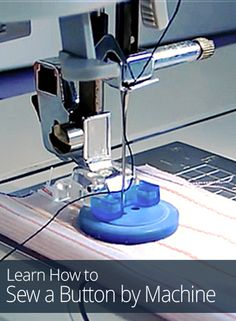 Fed up with hand sewing? In this beginner sewing lesson from So Sew Easy, learn how to sew on a button with a zigzag stitch by sewing machine.