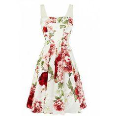 Vintage Square Neck Voile Splicing Floral Print Women's Vest DressVintage Dresses | RoseGal.com