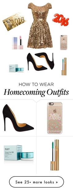 """""""its 2016!!"""" by sharon-sw on Polyvore featuring Christian Louboutin, Casetify and Yves Saint Laurent"""
