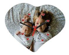 Cuori e numeri per il foto orologio cuore