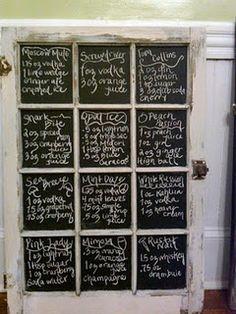 Another chalkboard idea!!