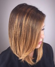 Deep Brunette Balayage with Lowlights