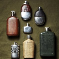 Vintage Canteens & Flasks by Brad Bridgers || Man of the World