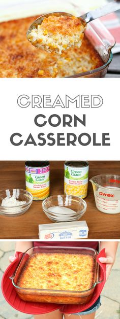 Creamed Corn Casserole -- a corn casserole recipe that's so good you'll want to scrape the dish completely clean to get every last bit of caramelized goodness from the corners! | via @unsophisticook on unsophisticook.com