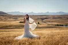 Love this lace edged veil. Mount Cook Wedding Photography  | Tekapo wedding photographer Mandy Caldwell Http://mandycaldwell.co.nz