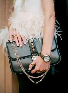 Bag: Valentino (via Saks). Top: Alexander McQueen. Jewelry: David Yurman, Cartier, Pomellato. (image: atlantic-pacific)
