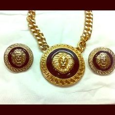 I just discovered this while shopping on Poshmark: Costume Lion set necklace and earring. Check it out!  Size: OS