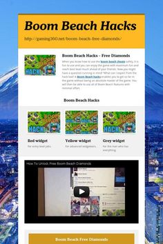 Boom Beach Hacks / Generator - No Download #boombeach #boombeachteam #boombeachfreediamonds #boombeachhack #boombeachhacktool #boombeachparty #boombeachcheats #boom_beach  LIMITLESS Resources GENERATOR! Acquire Diamonds, Gold In addition to WOOD! Visit The link Here http://instantgiftcards.club/boomb/boomb.html
