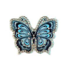 Aufbügler Schmetterling mit Steinchen – türkis Brooch, Jewelry, Fabrics, Grey, Jewlery, Bijoux, Jewerly, Jewelery, Jewels