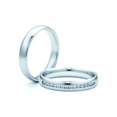 SAVICKI - Obrączki ślubne: Obrączki z białego złota (Nr 277) - Biżuteria od 1976 r.