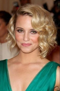 I've had this cut with curlier hair than pictured and liked it a lot--it works.