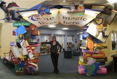 Entrance from the main circulation desk area into the children's room of the Bay Shore-Brightwaters Library on Long Island NY