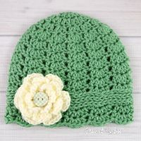 This pretty cloche hat is perfect for a mother/daughter photo shoot or just to wear on a cool Spring day. The flower is purely optional, but adds a touch of whi