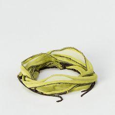 Terrain Fringed Silk Wrap Bracelet, Apple #shopterrain