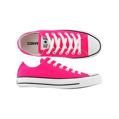 Converse All Star Speciality Ox Canvas Neon Pink Ladies Shoes @ www.jamesandjames.com (69 NZD) found on Polyvore