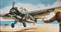 F4F Wildcat Royal Navy Aircraft Carriers, Airfix Models, Cross Art, Ww2 Planes, Ww2 Aircraft, Cross Paintings, Aviation Art, Military Art, Box Art