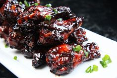 Chinese 5 Spice Chicken Wings With Sticky Soy, Balsamic Reduction Glaze | http://www.carlsbadcravings.com/chinese-5-spice-chicken-wings-with-sticky-soy-balsamic-reduction-glaze/
